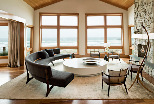 Interior Designers & Decorators. Oregon Coast Home contemporary-living-room