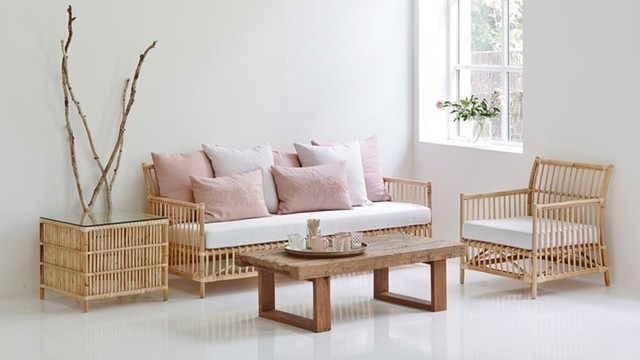 Original Rattan Living Room Furniture By Sika Design Midcentury Living Room New York By Country Gear Ltd