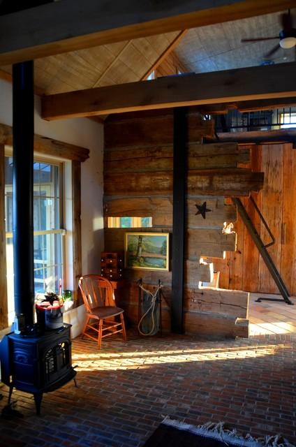 Orr Cabin traditional-living-room
