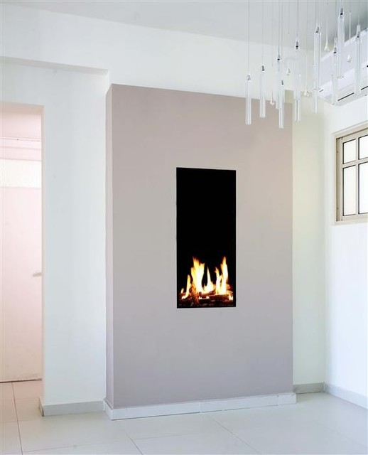 Ortal Clear 40 High Fireplace Modern Living Room