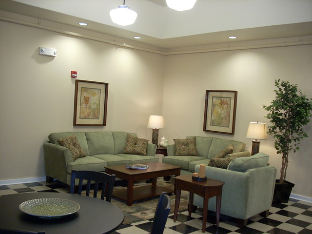 Oskaloosa Community Rooms eclectic-living-room