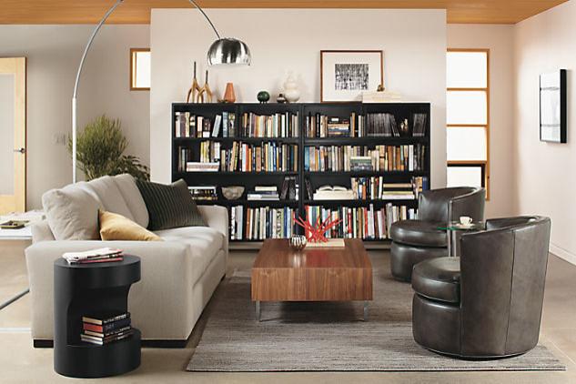 otis leather swivel chair by r b