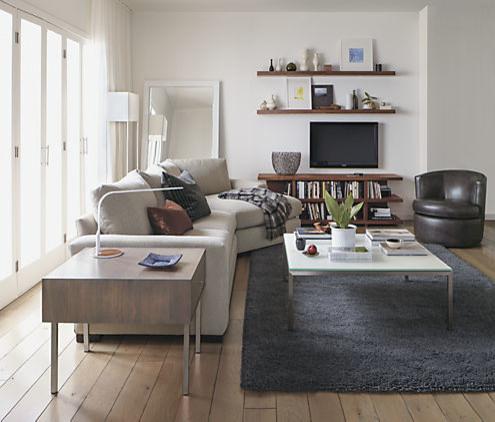 Otis Leather Swivel Chair by R&B modern-living-room