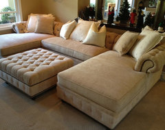 OTTOMAN STYLES - ANY SIZE ANY FABRIC transitional-living-room