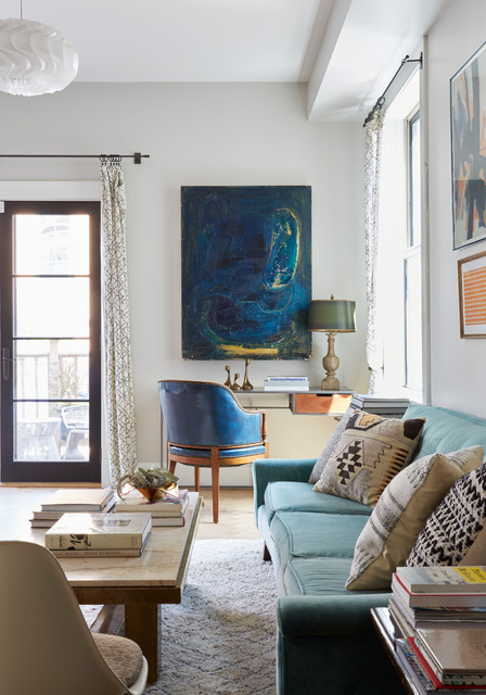 Our Chicago Coach House Eclectic Living Room