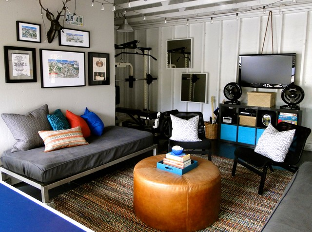 Fabulous Our Garage Redesign Contemporary Living Room Charlotte By Largest Home Design Picture Inspirations Pitcheantrous