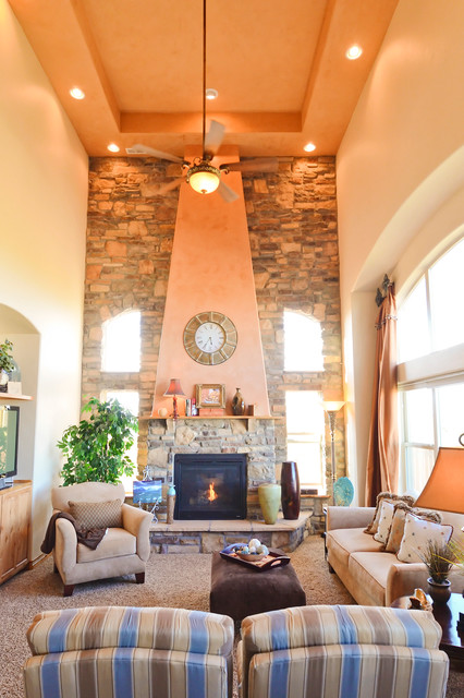 Our home in Peyton, CO eclectic-living-room
