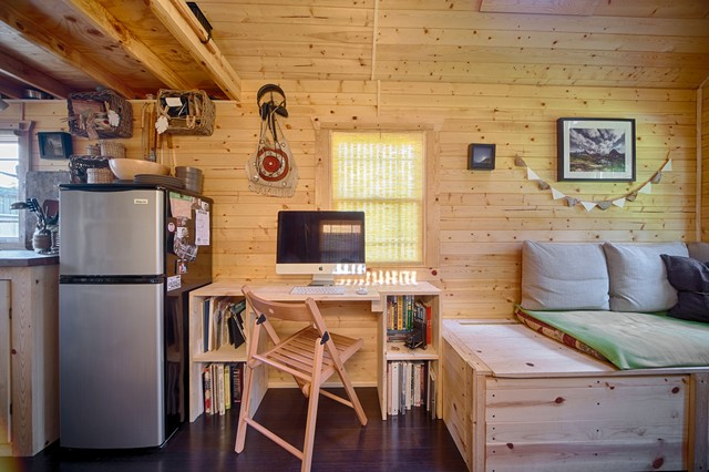 Our Tiny Tack House Rustic Living Room Seattle By