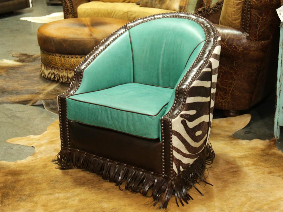 Rustic Living Room Dallas, Cowhide Western Furniture Reviews