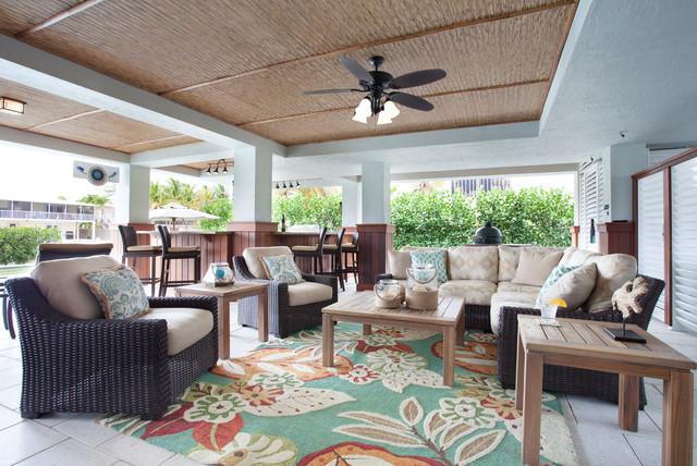 Outdoor Living in Islamorada - Tropical - Living Room - by ... on Tropical Outdoor Living id=55890