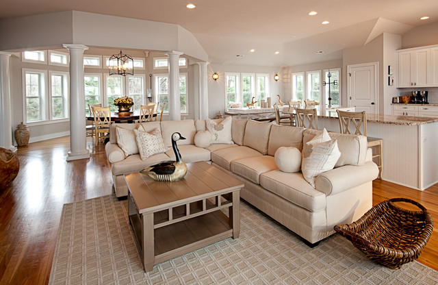 Surprising Outer Banks Beach House Traditional Living Room Dc Metro Largest Home Design Picture Inspirations Pitcheantrous