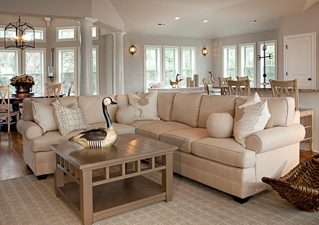 Outer Banks Beach House traditional-living-room
