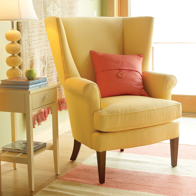 Charming Owen Wing Chair Traditional Living Room
