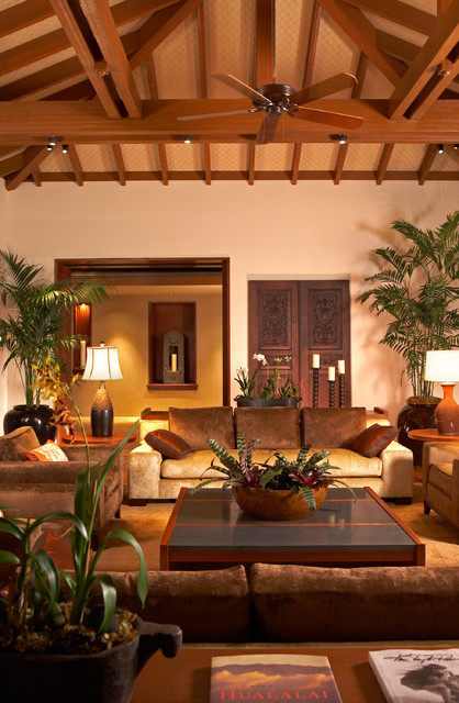 Amazing Ownby Design Tropical Living Room