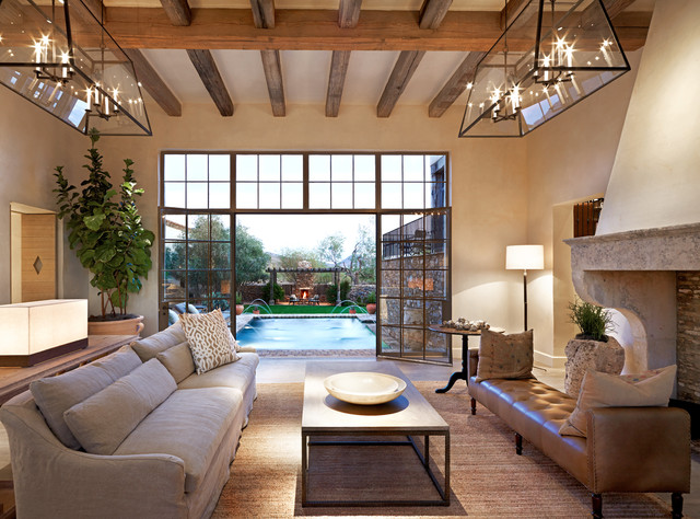 Oz architects mediterranean living room phoenix by for Living room decor ideas houzz