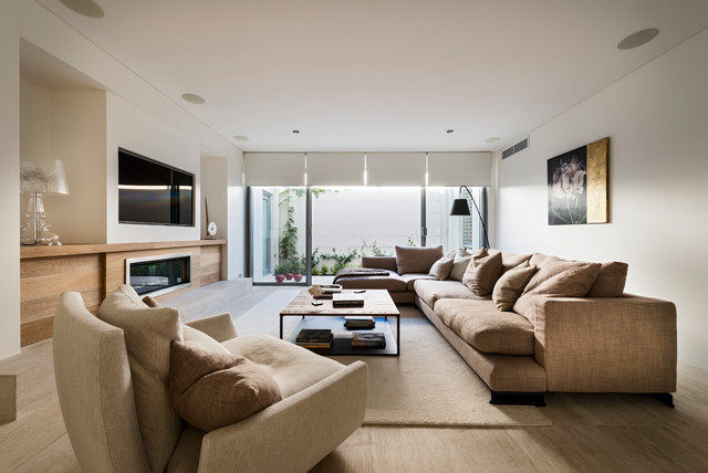 Ozone extension renovation contemporary living room for Living room 6m