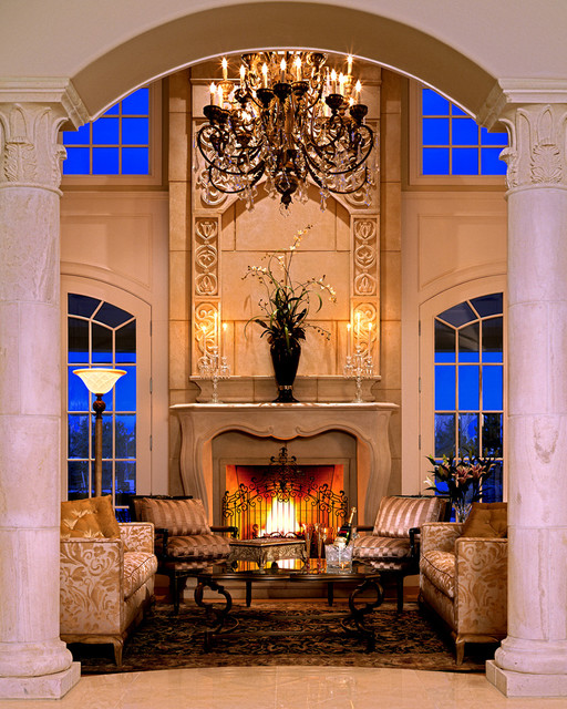 Living Room Designs Traditional: Pachel Stone Mantel