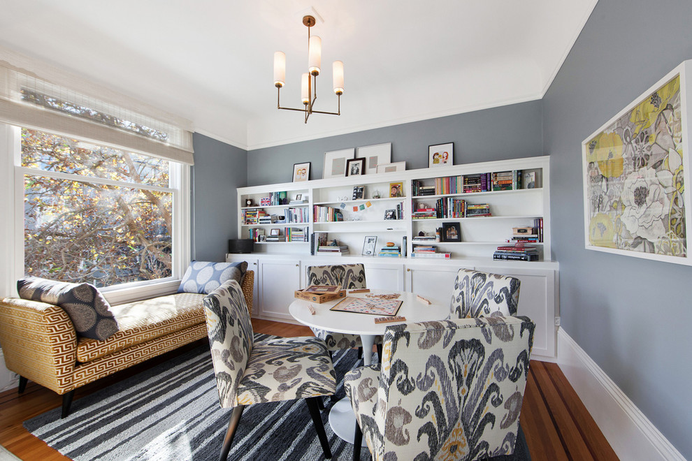 Inspiration for a transitional living room remodel in San Francisco