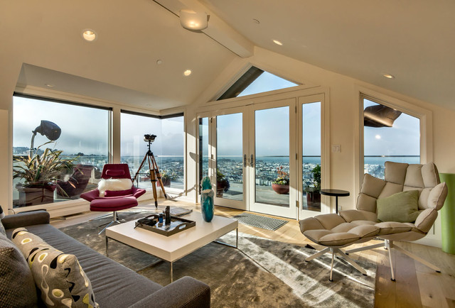 Pacific Heights Penthouse and Exterior Remodel contemporary-living-room