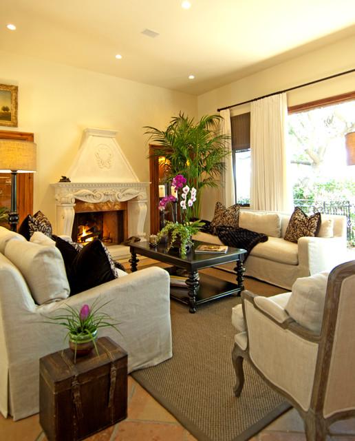 Pacific Palisades Italian Villa mediterranean-living-room