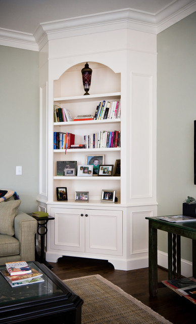 Painted Corner Cabinet - Living Room - charleston - by Hostetler Custom Cabinetry