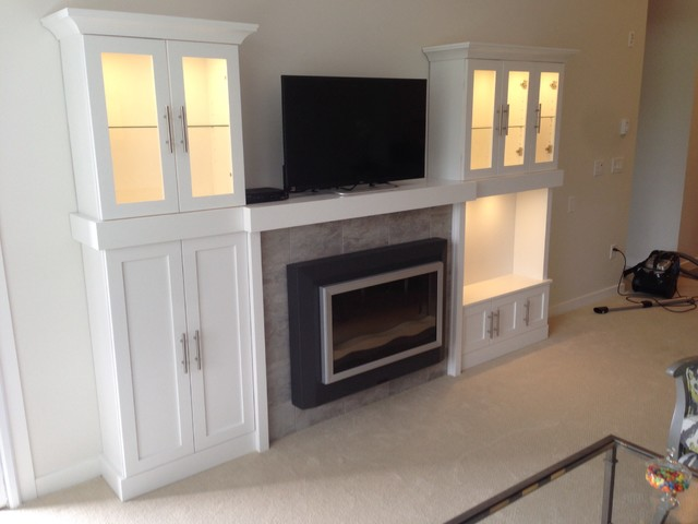 Painted Fireplace Wall Unit