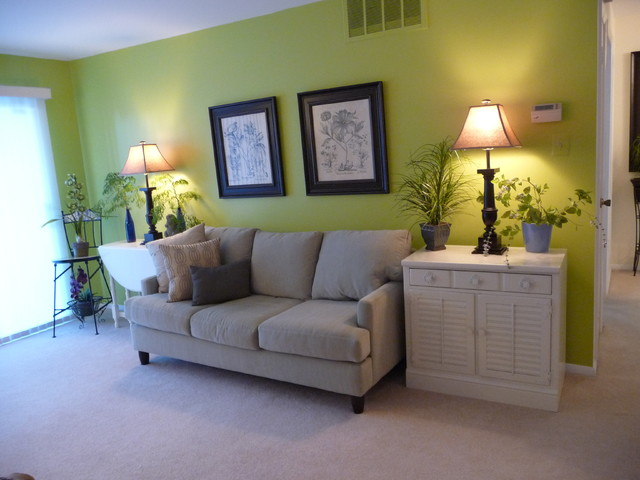 Painting my condo pear green eclectic living room - Green paint colors for living room ...
