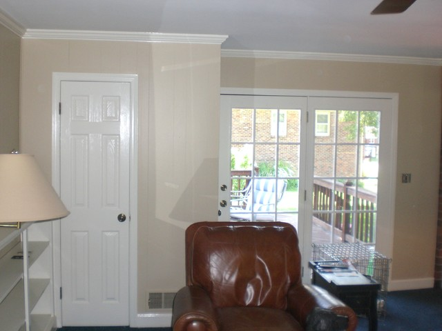 Painting Older Paneling Traditional Living Room