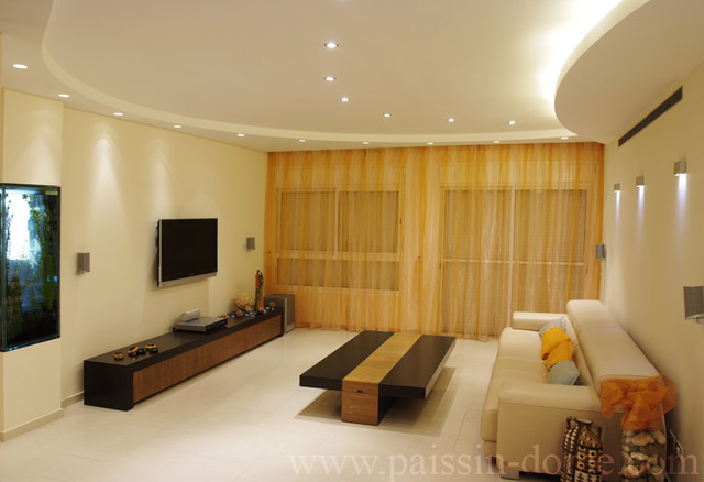 False ceiling photos for living room home design and for Rectangular living room interior design