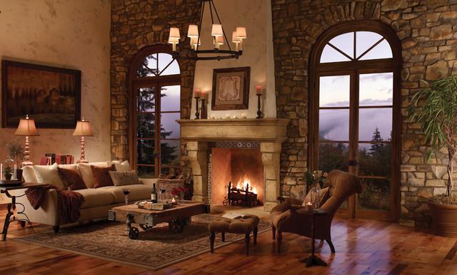 Palacio fireplace surround contemporary indoor - Chimeneas rusticas de ladrillo ...
