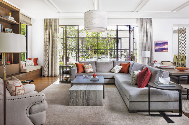 Palisades Modern Contemporary Living Room