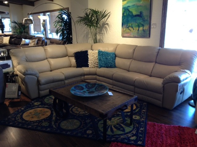 Palliser danica leather sectionals white leather sectional for White sectional sofa houston