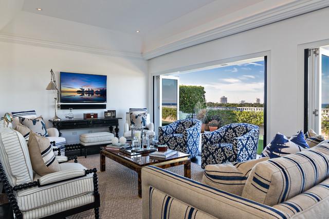 Palm Beach Condominium Interior Design Transitional Living Room Miami By Architectural