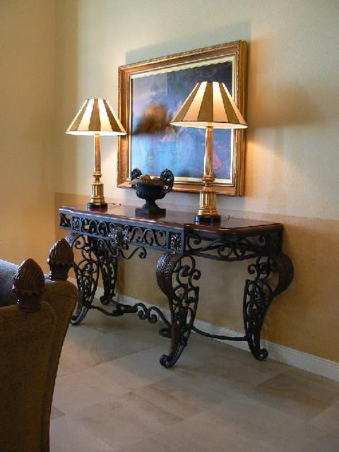 Palm Desert Retreat - Italian mediterranean-living-room