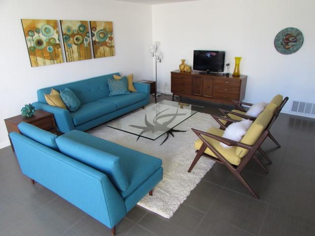 Delightful Palm Springs Living Room Midcentury Living Room