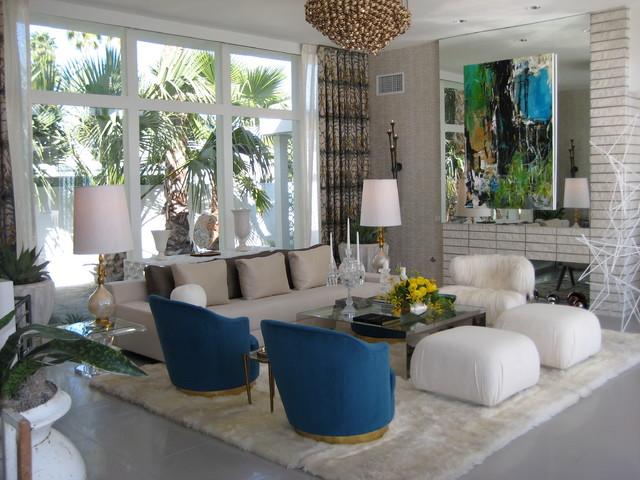 Palm springs modern midcentury living room los for Modern home decor palm springs