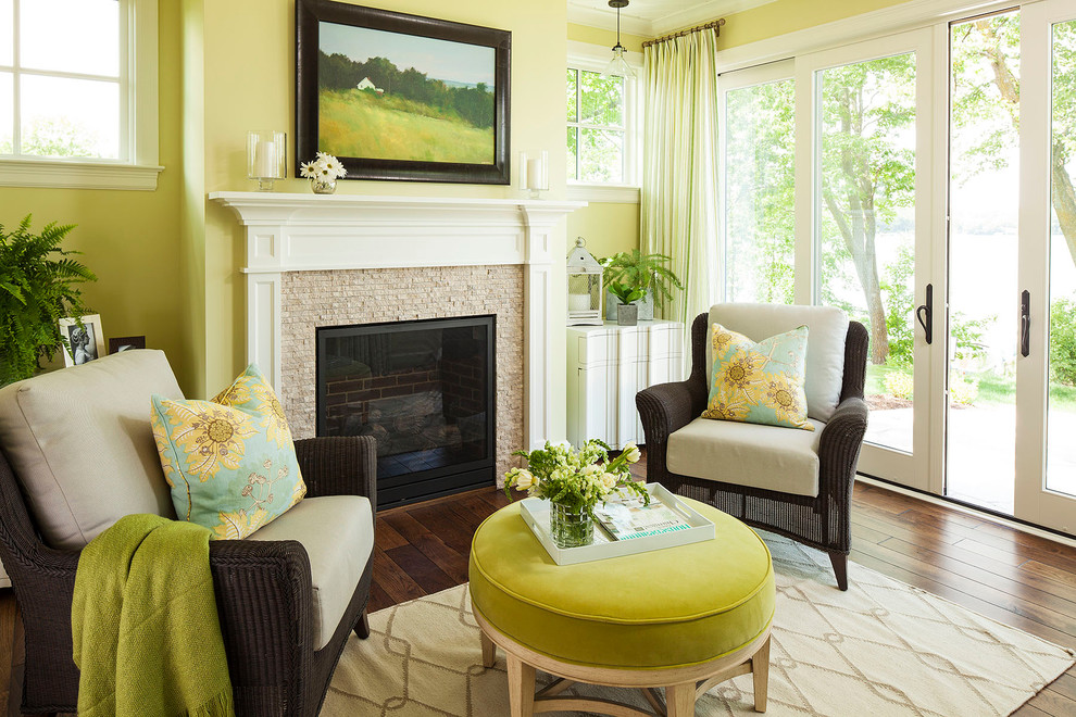 Inspiration for a transitional living room library remodel in Minneapolis