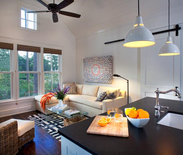 Houzz Farmhouse Living Room: Palmetto Bluff Cottage/Design Studio, SC