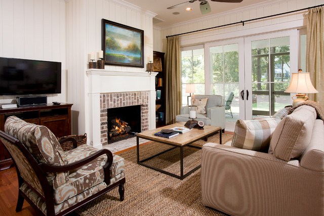 Transitional Living Room by Resort Custom Homes - How To Convert Your Wood-Burning Fireplace
