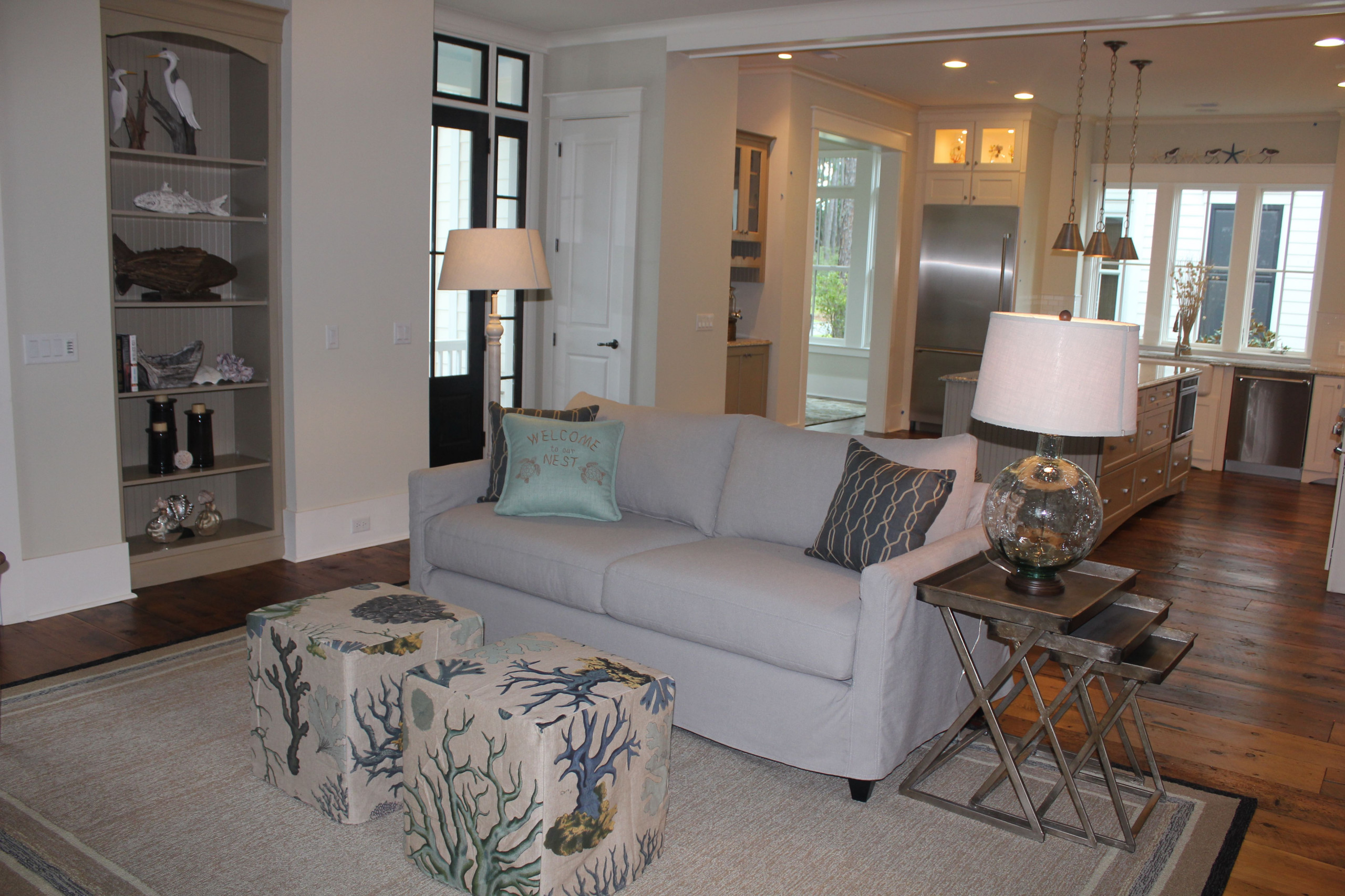 Palmetto Bluff Model Home Living Room