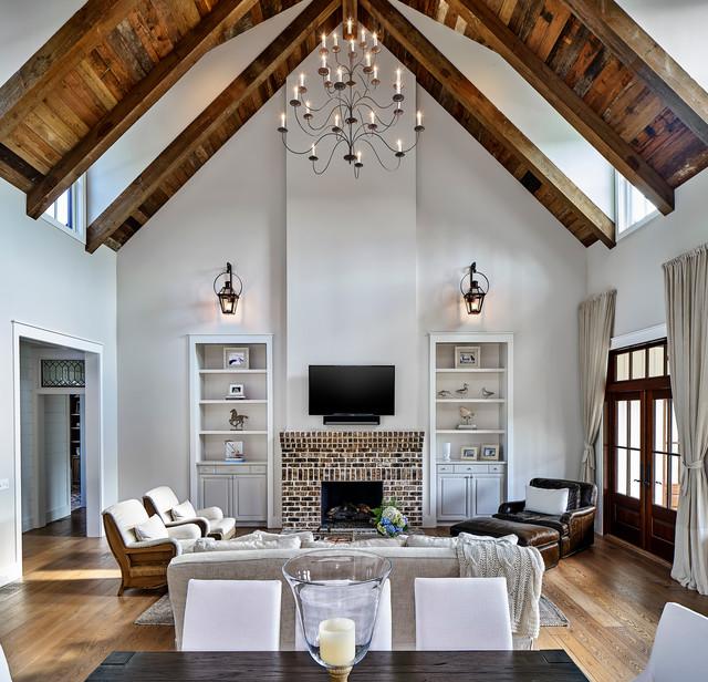 Houzz Farmhouse Living Room: South Carolina Low Country Home