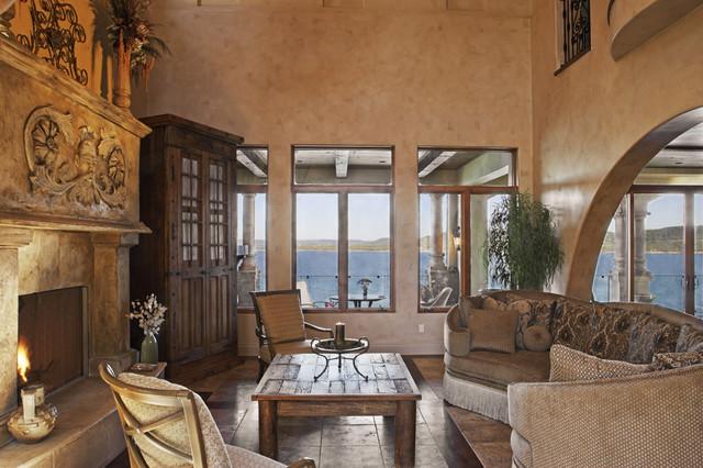 Palmieri Residence mediterranean-living-room