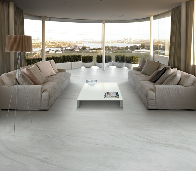 Panaria Utopia Slimline Marble Look Tile Modern Living Room Part 10