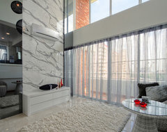Pandan Valley Condo contemporary-living-room