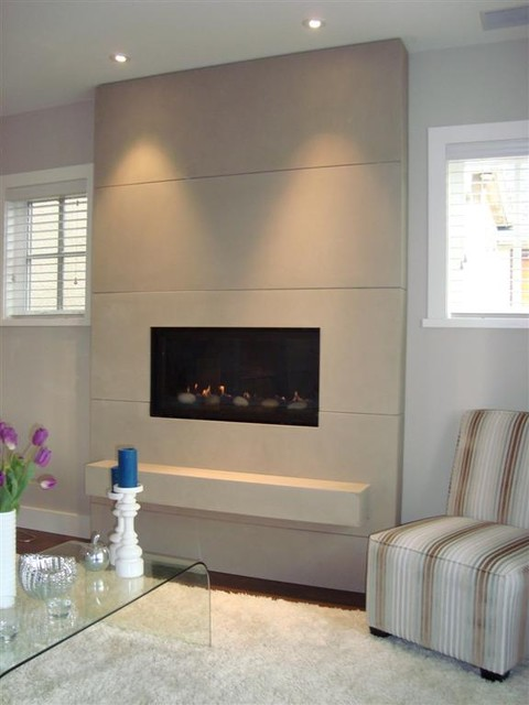Paneled Fireplace Surround - Traditional - Living Room - Vancouver ...
