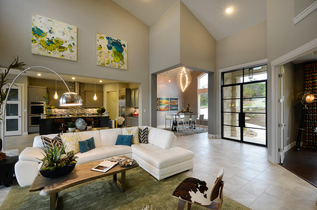 Parade Home Contemporary Living Room Austin By