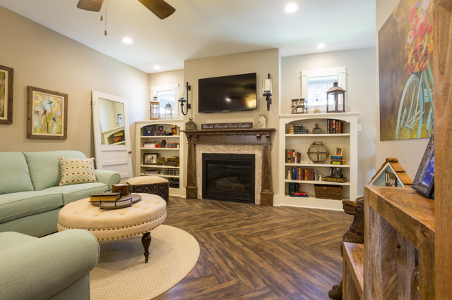 Parade of homes 2015 arts crafts living room other for Arts and crafts living room ideas