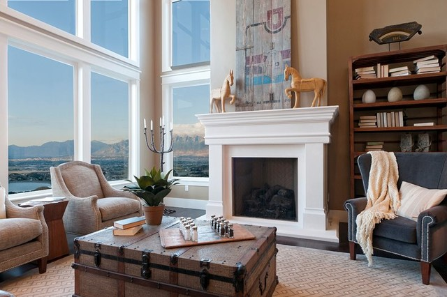 Parade of Homes mediterranean-indoor-fireplaces