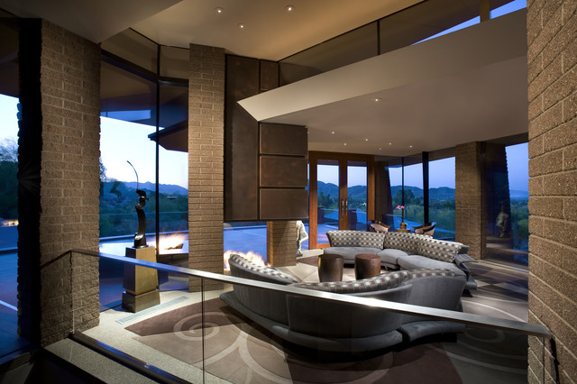 Paradise Valley, Arizona contemporary living room