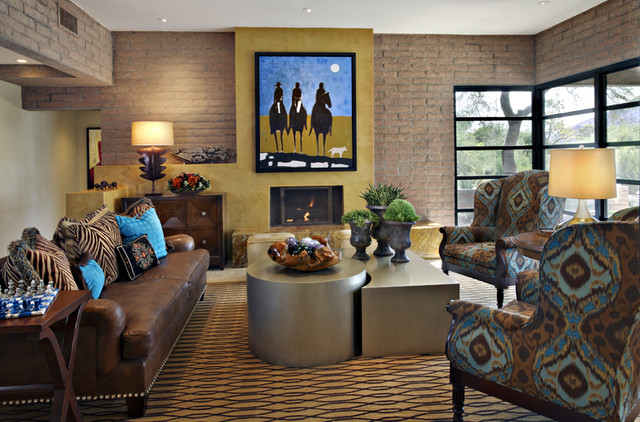 Paradise Valley Residence Colorful Eclectic Contemporary Living Room Phoenix By Linda